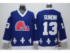 NHL quebec nordiques #13 sundin blue Throwback jerseys