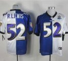 Nike Ravens #52 Ray Lewis With Hall of Fame 50th Patch NFL Elite Jersey