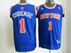 nba new york knicks #1 stoudemire blue[revolution 30 swingman]