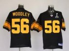 Steelers #56 Lamarr Woodley Super Bowl XLV black[Yellow Number]