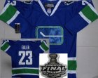 nhl vancouver canucks #23 edler blue 3rd[2011 stanley cup]