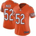 Womens Nike Chicago Bears #52 Khalil Mack Orange Alternate Vapor Untouchable Limited Player NFL Jersey