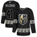 Vegas Golden Knights #41 Pierre-Edouard Bellemare Black Team Logos Fashion Adidas Jersey