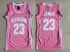 Cavaliers #23 LeBron James Pink Women Swingman Jersey