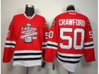 NHL chicago blackhawks #50 crawford red[new 2013 Stanley cup champions]