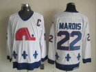 nhl jerseys quebec nordiques #22 marois white[patch C]