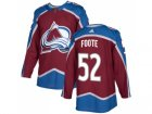 Adidas Colorado Avalanche #52 Adam Foote Burgundy Home Authentic Stitched NHL Jersey
