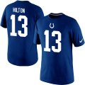 Nike Indianapolis Colts #13 T.Y. Hilton Pride Name & Number T-Shirt blue