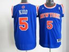 nba new york knicks #5 jason kidd blue[revolution 30 swingman]