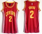 Cavaliers #2 Kyrie Irving Red Women Swingman Jersey
