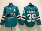 Sharks #39 Logan Couture Teal Adidas Jersey