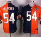 Nike Bears #54 Brian Urlacher Navy Blue&Orange With Hall of Fame 50th Patch NFL Elite Jersey