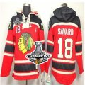 nhl jerseys chicago blackhawks #18 savaro red[pullover hooded sweatshirt patch A][2013 Stanley cup champions]