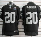 Nike Raiders #20 Darren McFadden Black With Hall of Fame 50th Patch NFL Elite Jersey