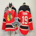 nhl jerseys chicago blackhawks #19 toews red[pullover hooded sweatshirt patch C][2013 Stanley cup champions]