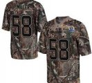 Nike Broncos #58 Von Miller Camo With Hall of Fame 50th Patch NFL Elite Jersey