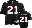 Atlanta Falcons #21 Deion Sanders 1992 Throwback black