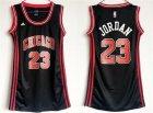 Bulls #23 Michael Jordan Black Women Swingman Jersey