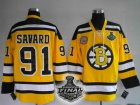 nhl boston bruins #91 savard yellow[2011 stanley cup]