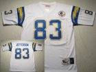 nfl San Diego Chargers #83 Jefferson Throwback white