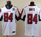 Nike Falcons #84 Roddy White White With Hall of Fame 50th Patch NFL Elite Jersey
