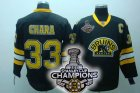nhl boston bruins #33 chara black 3rd[2011 stanley cup champions