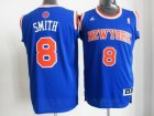 nba new york knicks #8 smith blue[revolution 30 swingman]