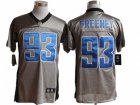 Nike NFL Indianapolis Colts #93 Dwight Freeney Grey Jerseys(Shadow Elite)