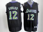 nba los angeles lakers #12 dwight howard black[camo fashion swingman]