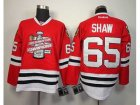 NHL chicago blackhawks #65 shaw red[new 2013 Stanley cup champions]