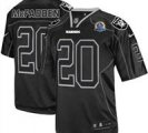 Nike Raiders #20 Darren McFadden Lights Out Black With Hall of Fame 50th Patch NFL Elite Jersey