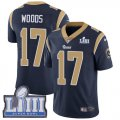 Nike Rams #17 Robert Woods Navy 2019 Super Bowl LIII Vapor Untouchable Limited Jersey
