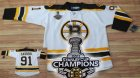 nhl boston bruins #91 savard white[2011 stanley cup champions]