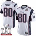 Youth Nike New England Patriots #80 Irving Fryar Elite White Super Bowl LI 51 NFL Jersey