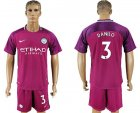 2017-18 Manchester City 3 DANILO Away Soccer Jersey