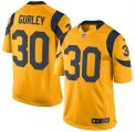 Mens Los Angeles Rams #30 Todd Gurley Gold Color Rush Limited Jersey