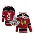 nhl jerseys chicago blackhawks #9 hull red[pullover hooded sweatshirt][2013 Stanley cup champions]