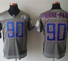 Nike Giants #90 Jason Pierre-Paul Grey With Hall of Fame 50th Patch NFL Elite Jersey