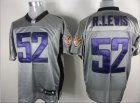 nfl Batlimore Ravens #52 Ray Lewis Gray shadow