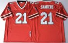 Falcons #21 Deion Sanders Red Throwback Jersey