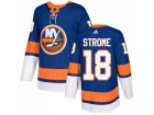 Men Adidas New York Islanders #18 Ryan Strome Royal Blue Home Authentic Stitched NHL Jersey