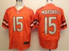 Nike nfl Chicago Bears #15 brandon marshall Orange Elite jerseys