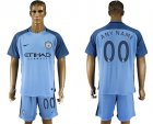 2016-17 Manchester City Home Customized Soccer Jersey