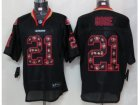 Nike NFL San Francisco 49ers #21 Frank Gore Black Jerseys[Lights Out Elite]