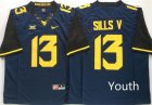 West Virginia Mountaineers #13 David Sills V Navy Youth Nike College Football Jersey