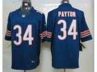 NEW NFL Chicago Bears #34 Walter Payton Blue Jerseys(Limited)
