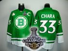 nhl boston bruins #33 chara green[2011 stanley cup champions]
