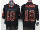 Nike NFL Denver Broncos #18 Peyton Manning Lights Out Black Elite Jersey