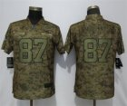 Nike Chiefs #87 Travis Kelce Camo Camo Women Salute To Service Limited Jersey