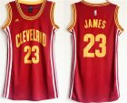 Cavaliers #23 Lebron James Red Women Swingman Jersey